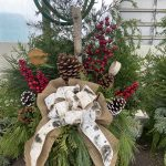 Planter D  11″ Natural with bow