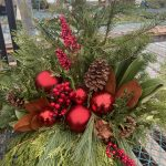 Planter E 11″ Natural with red accents
